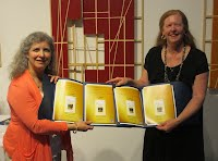 Kathy and Barbara with their EVVY Awards